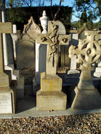 remaining headstones, now at Cornelian Bay